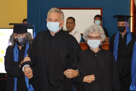 Gina Gaxiola honors Kershners in ceremony of Doctor Honoris Causa